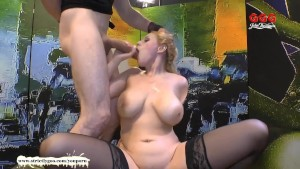 Angel Wicky big natural tits cum covered